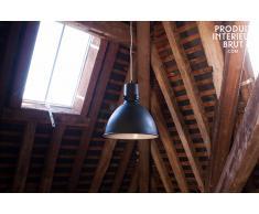 Lámpara colgante de fábrica de estilo industrial edición negra