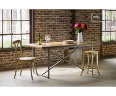 Mesa de comedor de estilo industrial Queens