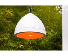 Lámpara blanca colgante de estilo vintage Kepsta