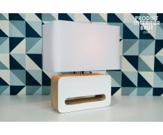Lámpara de mesa estilo escandinavo Woodwite