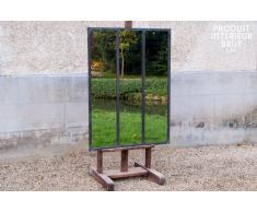 Espejo de taller con marco metálico