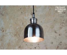 Lámpara plateada brillante de diseño industrial