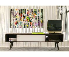 Mesa TV estilo vintage Brown y White