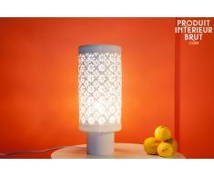 Lámpara estilo shabby chic de porcelana