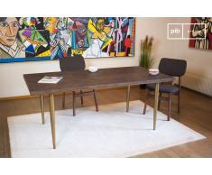 Mesa de madera de estilo vintage Alienor