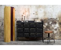 Cómoda de taller estilo vintage con 12 cajones