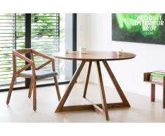 Mesa de madera redonda Starbase