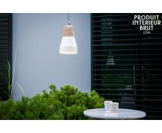 Lámpara colgante Newark estilo vintage con color crema