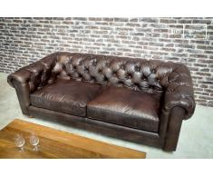 Sofá vintage Chesterfield Oscuro
