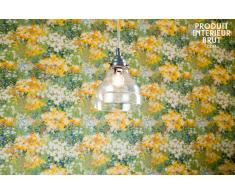 Lámpara colgante decoración vintage con vidrio en forma de cono