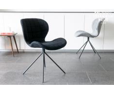 Silla negra de estilo escandinavo Hetsik