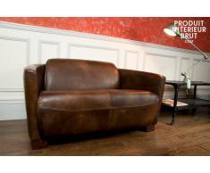 Sofá vintage de cuero Red Baron