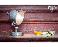 Lámpara plateada de estilo vintage