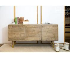 Cómoda de madera de estilo escandinavo Messinki