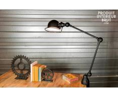 Lámpara Jielde loft negra mate estilo vintage con agarradera