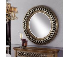 Espejo Classic rdo plata y oro