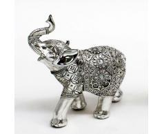Elefante plateado manta flores espejo