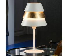 Lámpara de sobremesa Isis 1L Blanco/Oro