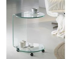 Mesa Auxiliar Redonda Glass