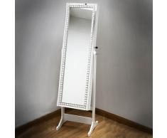 Espejo vestidor joyero blanco