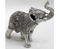 Figura Elefante manta flores grande