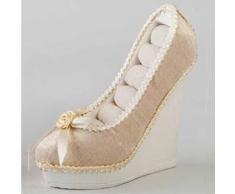 Zapato/joyero terciopelo