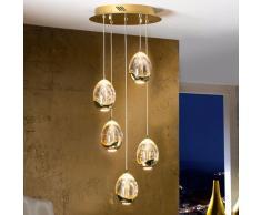 lampara 30 rocio 5 led oro