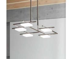 Lámpara techo 5L Led cromo brillo