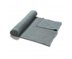 Manta Ars, azul y gris
