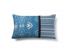Funda cojín Blu mosaico y rayas
