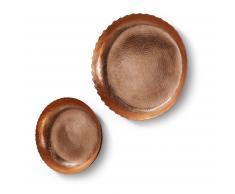 Set 2 platos murales Ion, cobre