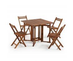 Set Gustave de mesa y 4 sillas plegables