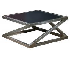 JUSTyou Acort Mesa de café Negro Aluminio