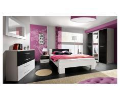 JUSTyou VICKA II Conjunto dormitorio Blanco Negro I