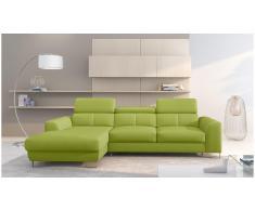 JUSTyou Adelia Sofa esquinero Verde Cuero sintetico