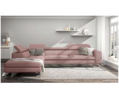 JUSTyou Alda Sofa esquinero Rosa Tejido estructurado