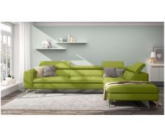 JUSTyou Alda Sofa esquinero Verde Cuero sintetico