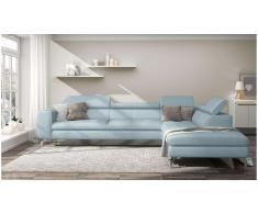 JUSTyou Alda Sofa esquinero Azul Velour