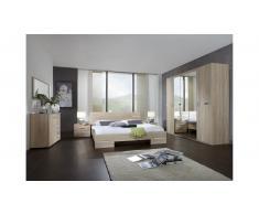JUSTyou Louise Conjunto de dormitorio Roble Sonoma