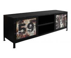 JUSTyou Duane Mueble para TV Negro Multicolor