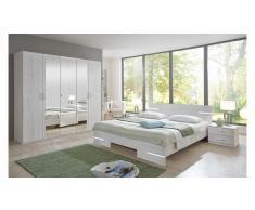 JUSTyou Louise Conjunto de dormitorio Roble Bianco