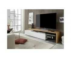 JUSTyou Amelia Mueble TV Blanco mate | Roble
