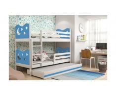 JUSTyou Ola con cama supletoria Litera Blanco Azul