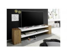JUSTyou Robyn Mueble TV Blanco mate | Roble