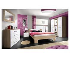 JUSTyou VICKA II Conjunto dormitorio SonomaBlanco