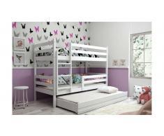JUSTyou Kera con cama supletoria Litera Blanco