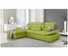 JUSTyou Helia Sofa esquinero Verde Cuero sintetico