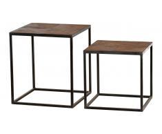 JUSTyou Sorro Mesa auxiliar conjunto de 2 piezas