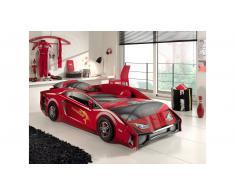 JUSTyou Tripoli Cama Coche Rojo HxBxL 59x100x225 cm
