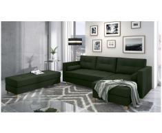 JUSTyou Kaito Sofa esquinero Verde Tejido estructurado